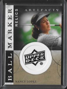 2021 Upper Deck Artifacts Nancy Lopez Ball Marker Relic Card SP LPGA Golf