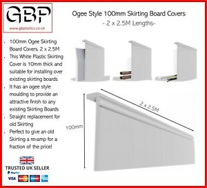 100mm Ogee Skirting Board Covers to Capover Existing Skirting *2 x 2.5M*