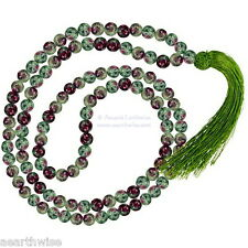 RUBY ZOISITE PRAYER MALA NECKLACE  Yoga Wicca Witch Pagan