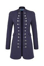 AO Long Blazer Uniform Military Karneval Fasching Kostüm Jacke Blau XL 42