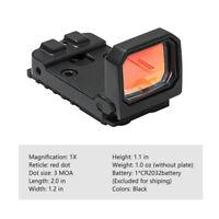 Adjustable Flip Dot 1x22x16 Red Dot RMR Pistol Reflex Sight Optic Scope Hunting
