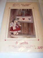 """14"""" STUFFED RABBIT BUNNY DOLL TOY CRAFTS SEWING FABRIC PATTERN PROJECT QUILT"""