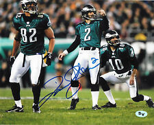 David Akers Autographed Signed 8x10 Photo Eagles 49ers Lions (JSA PSA Pass)