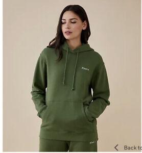 Finery Arya Hoodie Washed & Preshrunk New Khaki Green Size 18 Rrp £45