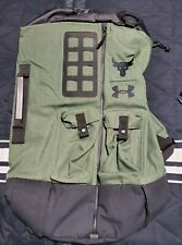 UA X Under Armour Project The Rock Green Military Duffel Bag 90 Backpack New