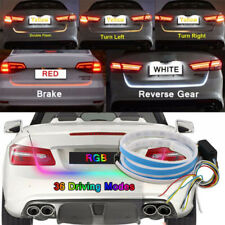 Multi-Color LED RGB Flow Type Car Tailgate Strip Brake Driving Turn Signal Light