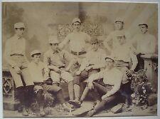 ANTIQUE VICTORIAN 1880s BOSTON ORIGIN BASEBALL TEAM LARGE SEPIA PHOTOGRAPH RARE