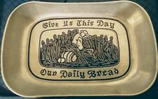 """Give Us This Day Our Daily Bread"" Serving Tray HG Aluminum by Wilton Armetale"