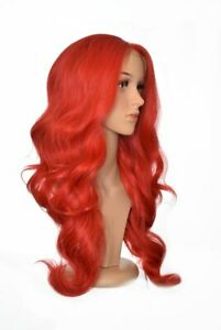 Long Thick Glamorous Wavy Pillarbox Lace Front Wig. Jessica Rabbit Wig. Unisex