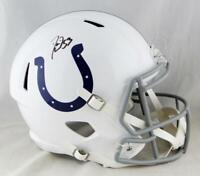 Darius Leonard Autographed F/S Indianapolis Colts Speed Helmet-JSA W Auth *Black