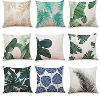 Home Sofa Decor Cushion Cover Tropical Plants Throw Pillowcase Pillow Covers Hot