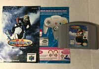 Wave Race 64 Cart & Manual & Operation Card N64 Nintendo *Authentic* Tested