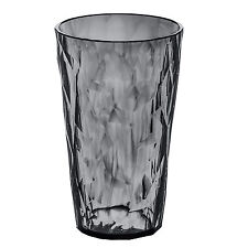 """Koziol Small Plastic """"Crystal 2.0"""" Drinking Glass - Transparent Anthracite"""