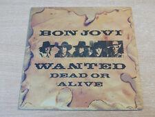 """EX/EX !! Bon Jovi/Wanted Dead Or Alive/1987 Vertigo 7"""" Single"""
