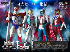 -=] BANDAI-Shodo Infini-T Force Set di 4 Kyashan-Polymar-Gatchaman-Tekkaman [=-