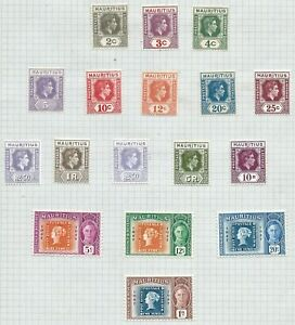 Commonwealth Stamps - Mauritius King George VI 1938, 1948 & 1950