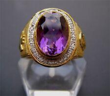 Bishop 18K Gold Amethyst & Diamonds Ring