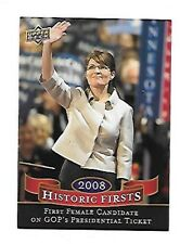2009 UPPER DECK HISTORIC FIRSTS  SALIN PALIN #HF-4      FREE COMBINED S/H