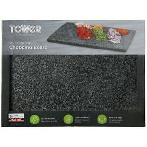 New Solid Granite Chopping Serving Board Kitchen Worktop Saver Food Cutting