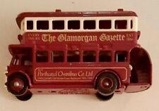 Lledo Promotion Scarce Glamorgan Gazette Double Decker Bus - Nice Condition