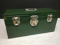 "Vintage Union Steel Chest Corp. Green Tool Box Lero NY USA - 14"" X 7"" X 6"""