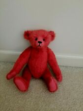 Red Teddy Bear - Jointed - No Tags - Very nice preowned condition