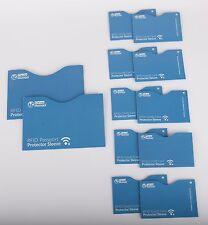 12-Piece RFID Blocking Credit Card/Passport Wallet Protector Sleeve Set Kit Blue