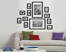 12 pcs photo picture set frame white wall art decor black gift present frames