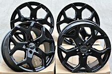 "18"" BLACK VIPER 950kg ALLOY WHEELS FIT VW T5 T6 T28 T30 T32 AMAROK TOUAREG 2.5"