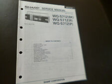 Original Service Manual Schaltplan  Sharp WQ-571Z