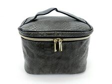 Soft Sided Train Case, Cosmetic Travel Bag, Zippered, Faux Reptile Shell, TC-179
