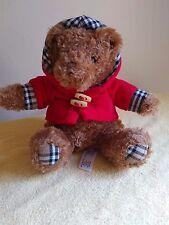 "2011 Animal Adventure 8"" plush Teddy Bear w/ Red Hooded Jacket"