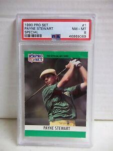 1990 Pro Set Payne Stewart Special PSA NM-MT 8 Golf Card #1 PGA HOF