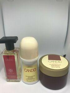 Avon 3-Pc Candid Gift Set 1-Perfume 1-Skin Softener 1-Bonus Size Roll-On Unboxed