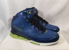 AND1 Mens Athletic Shoes Blitz High Top Bright Royal Blue Lime Green Size 13 NEW