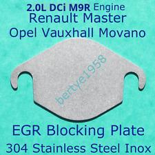 EGR Valve Blank Plate Vauxhall Opel Vivaro, Renault Trafic M9R M9T 2.0L engine