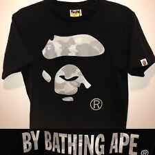 a7ce2774b VTG Authentic A BATHING APE Face Reflection White Camo Black Single Stitch  Shirt