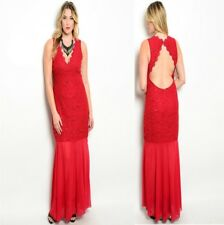LD18 Womens Size 14/16 Red Formal Cocktail Evening Wedding Party Long Dress Plus