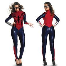 New Spider Women Cosplay Costume Party Sexy Zentai Suit Anime Superhero Jumpsuit