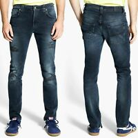 Nudie Herren Slim Skinny Fit Stretch Jeans Hose - Thin Finn 20 Months - W32 L34
