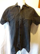 Molto raro vintage originale dei Metallica Band Shirt. Nero Camicia Button-down, piccola.