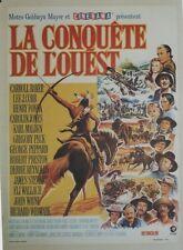 """""""LA CONQUÊTE DE L'OUEST (HOW THE WEST WAS WON)"""" Affiche entoilée (John FORD)"""