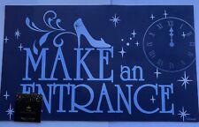 "Disney Princess Make An Entrance Rubber Doormat Floor Mat 18X30"" Cinderella New"