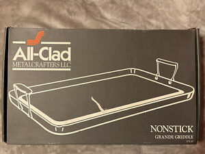 """All Clad MetalCrafters  Nonstick 13"""" X 20"""" Double Burner Grande Griddle NIB 3020"""