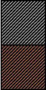 Scale Motorsport 1443 x 1/43 Comp. Carbon Fiber Decal Black on Bronze