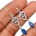 Om - Sapphire 925 Sterling Silver Earring Jewelry BE68507
