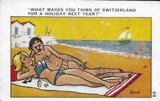 Vintage comic postcard - seaside humour