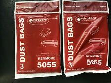2  3-PACKS OF KENMORE 5055 CANISTER VACUUM CLEANER BAGS
