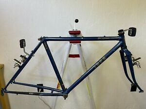 1985 Trek 830 True Temper AT lugged steel mountain bicycle frame fork 20 in