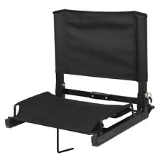 Folding Stadium Seat Bleacher Chair With Backs Cushion and Shoulder Straps